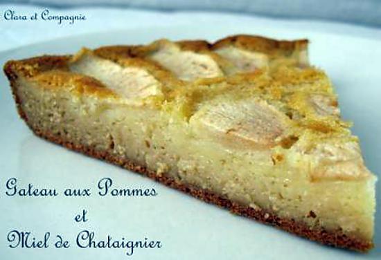 recette Gateau aux pommes et miel de chataignier