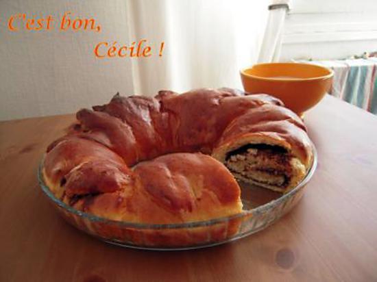 """recette Brioche fourrée coco-choco pour un hommage au """"Déjeuner"""" de François Boucher:"""