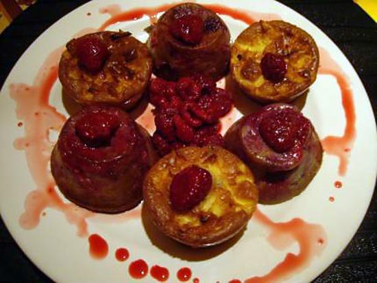 recette Muffins légers aux pommes et aux framboises