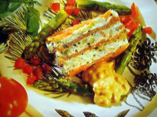 recette Terrine de saumon aux asperges