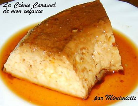 recette La Crème Caramel de mon enfance
