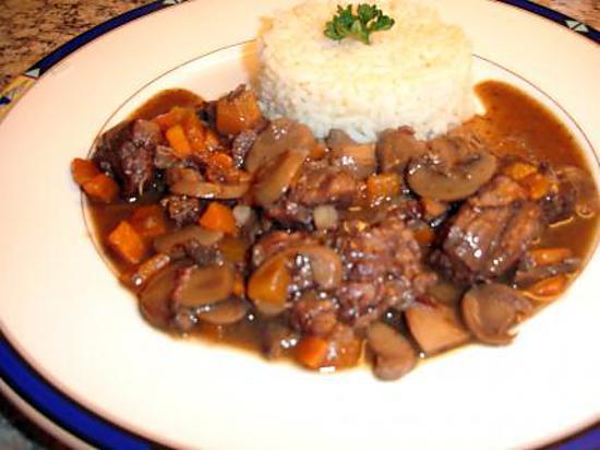 Recette de rago t de boeuf champignons et carottes - Recette de cuisine gastronomique francaise ...