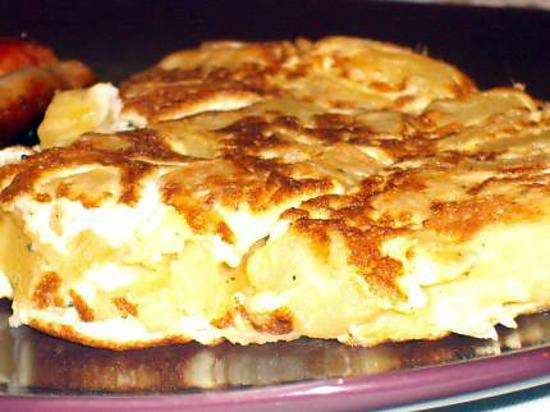 recette tortilla (jambon patates)