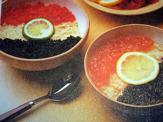 recette Macédoine d'oeufs de poissons