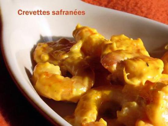 recette Crevettes safranées