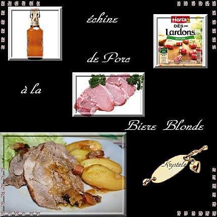 recette échine de porc à la biere blonde