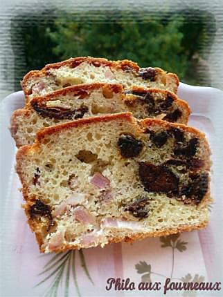 recette Cake aux lardons & aux pruneaux