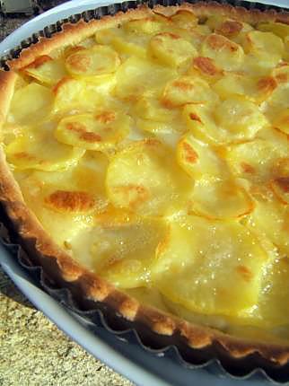 recette Tarte aux pommes de terre et reblochon