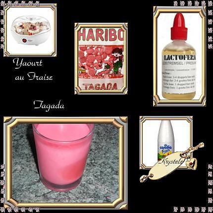 recette yaourt au fraise Tagada ®
