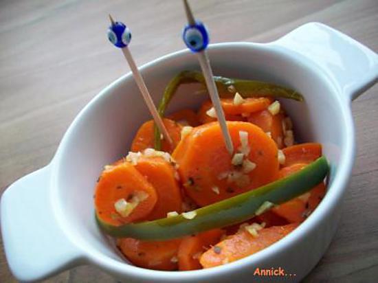 Recette de carottes marin es pour l 39 ap ro - Recettes rapides 10 a 15 minutes maxi ...