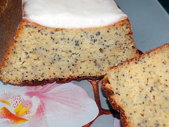 recette Cake citron-pavot glaçage citron (régime dukan)