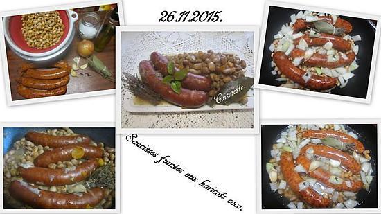 recette Saucisses fumées aux haricots coco.