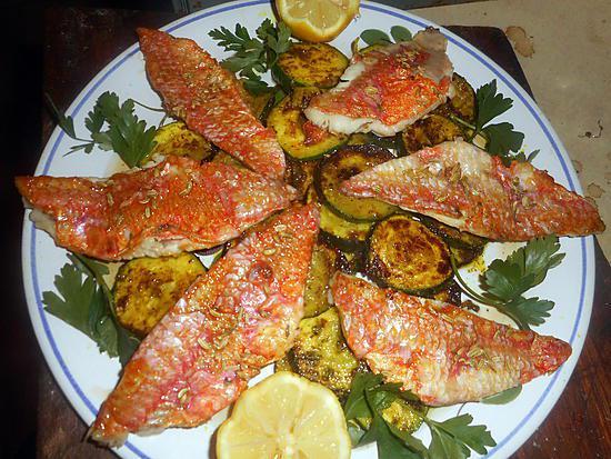 recette Filet de rouget courgette à la marocaine