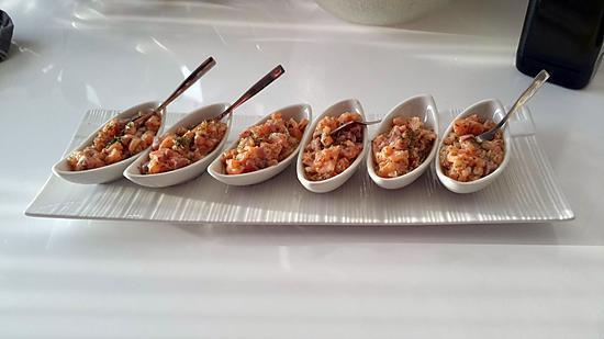 recette Tartare de saumon/Avocat au piment d'espelette