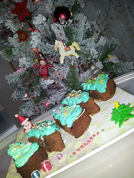 recette Cupcakes *sapin de noel*
