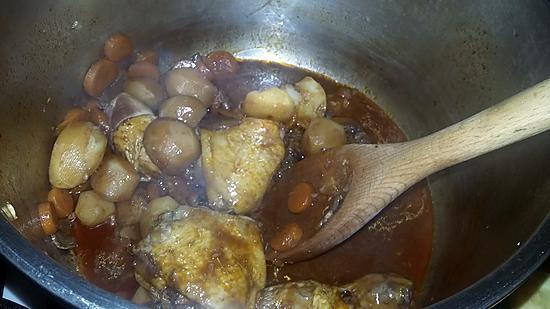 recette Poulet bourguignon