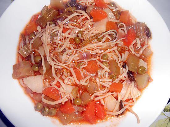 Recette de soupe de legumes aux capellini maison - Soupe de legume maison ...
