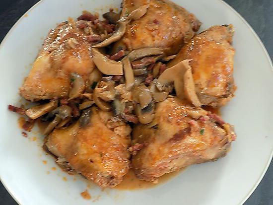 Recette de cuisses de poulet au bacon - Cuisse de poulet calories ...