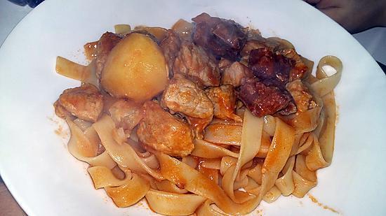 recette Ragoût de porc au figatelli
