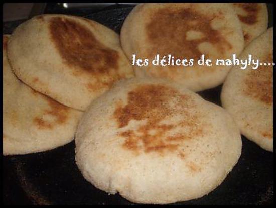 recette batbout (pain sur la poele)