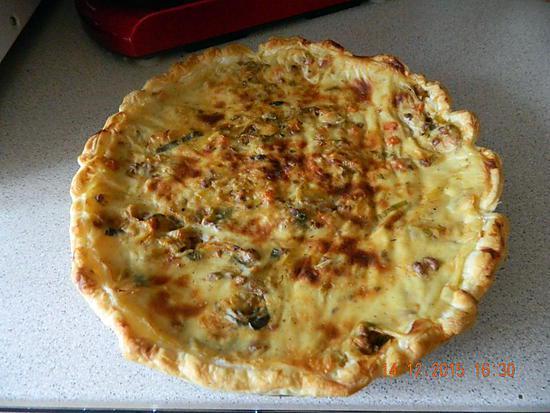 recette Tarte poireaux boeuf haché et béchamel moutardée