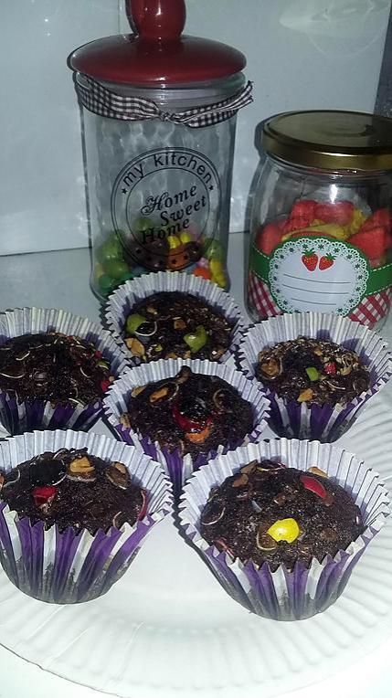 recette Muffin cacao m&m's