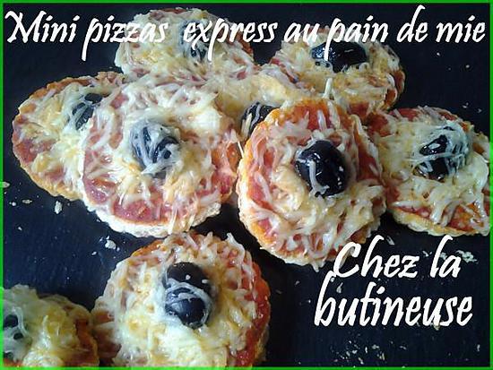 recette de mini pizzas express au pain de mie. Black Bedroom Furniture Sets. Home Design Ideas