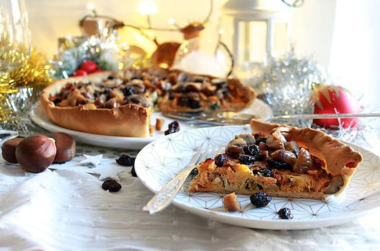 recette de tarte v g tarienne aux marrons champignons potiron cranberries. Black Bedroom Furniture Sets. Home Design Ideas