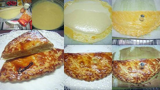 recette Chausson à la crème amandine.