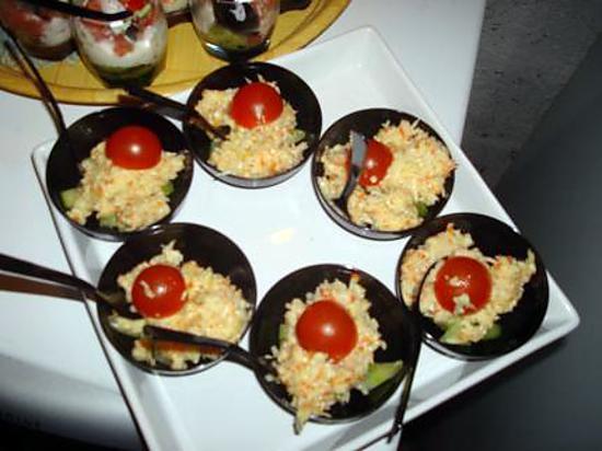 recette de mini verrine au crabe et au concombre. Black Bedroom Furniture Sets. Home Design Ideas