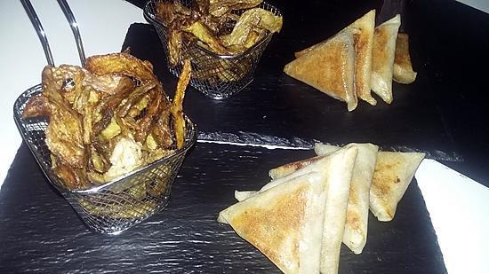recette Chips d'épluchures de pomme de terre épicés