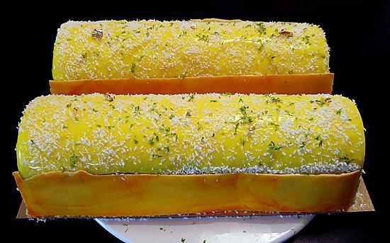 recette Bûche Yuzu Mangue et Thé Matcha