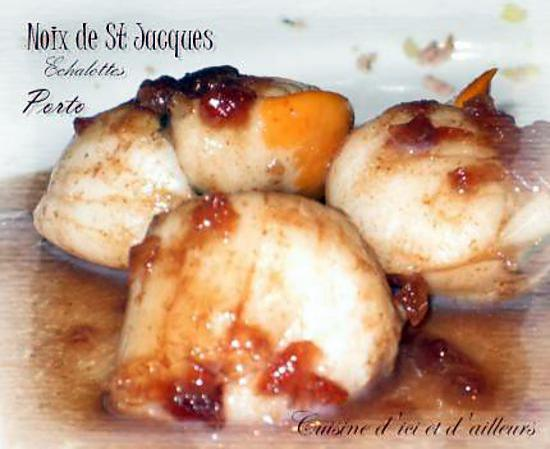 recette de noix de st jacques au porto et aux chalotes. Black Bedroom Furniture Sets. Home Design Ideas