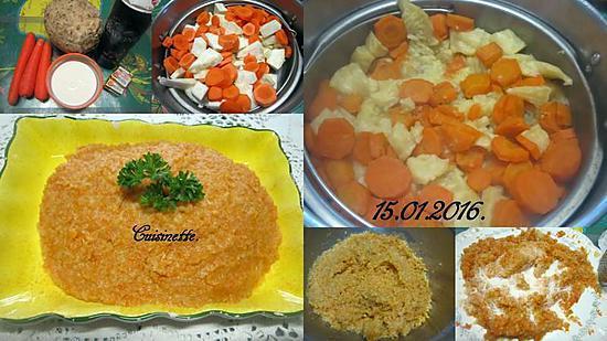recette Purée de céleri rave et carottes.