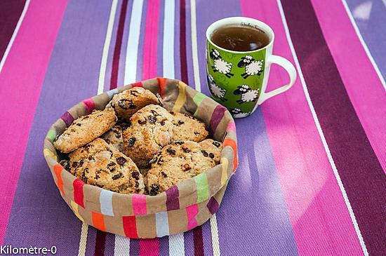 recette Scones aux raisins