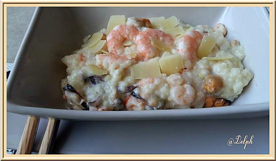 recette de risotto aux fruits de mer et crevettes. Black Bedroom Furniture Sets. Home Design Ideas