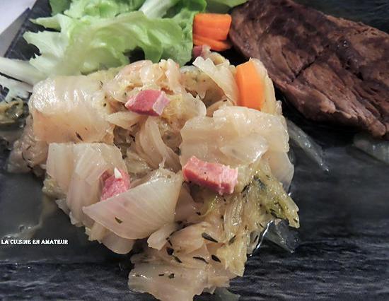 recette Chou chinois aux lardons