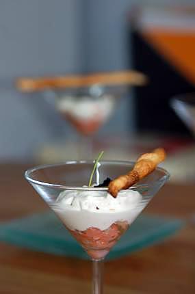 recette verrine de saumon
