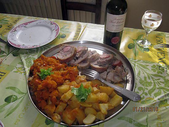 recette Longe de porc , farcie à la saucisse , du blog croquant , fondant , gourmand