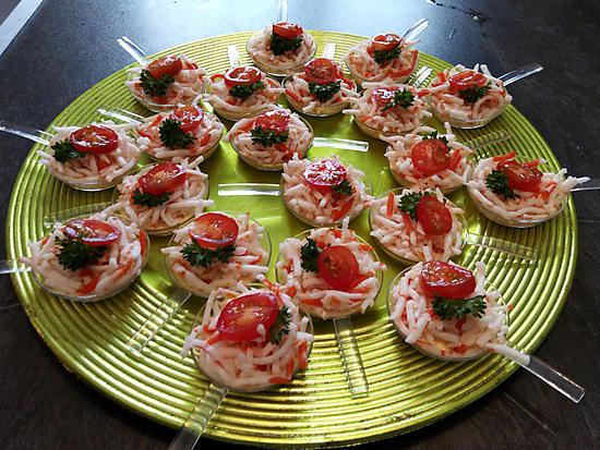 recette Cuillère apéritive surimi