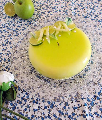 recette Entremet pomme verte citron vert coco