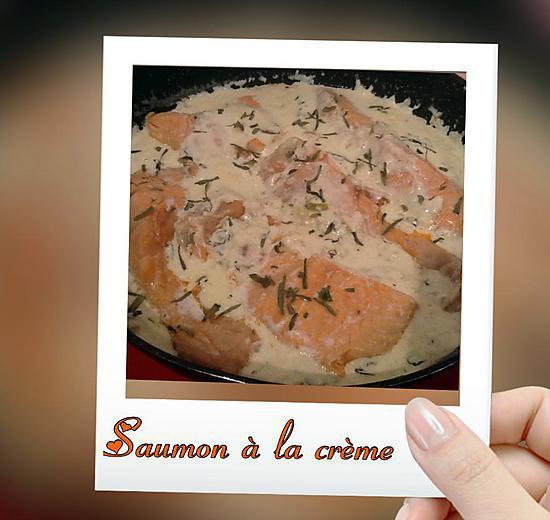 recette Saumon à la crème