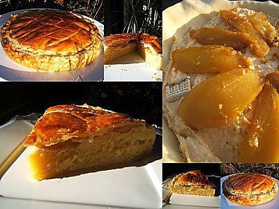 recette Galette des Rois à la mangue rôtie au gingembre et chocolat blanc