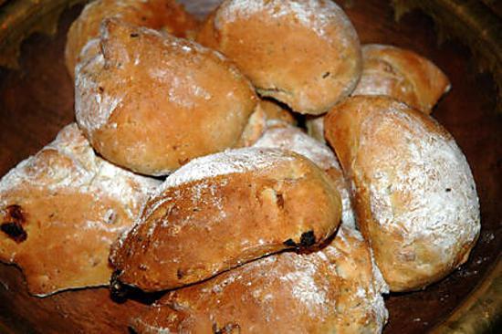 recette Petits pains au muesli et fruits