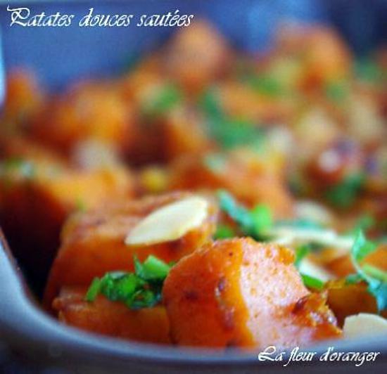 recette Patates douces épicées et legèrement caramélisée