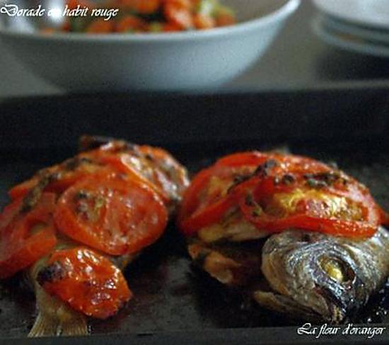 recette Dorade en habit rouge