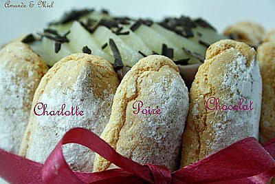 recette CHARLOTTE AU CHOCOLAT ET POIRE