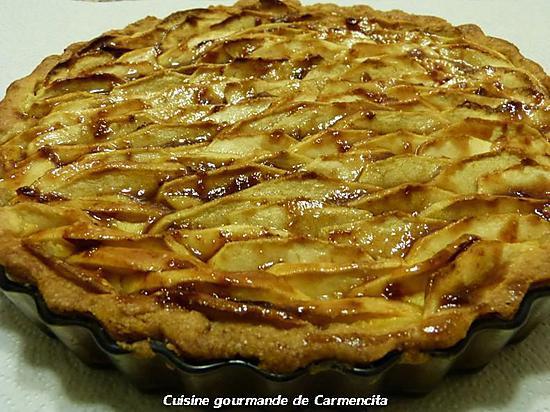 recette Tarte fondante aux pommes