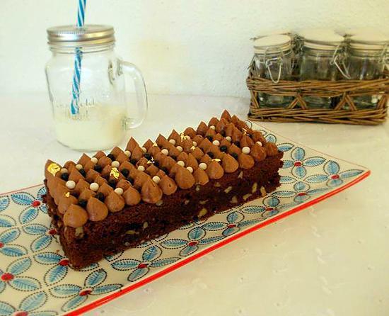 recette de brownie cr meux chocolat au lait caramel. Black Bedroom Furniture Sets. Home Design Ideas