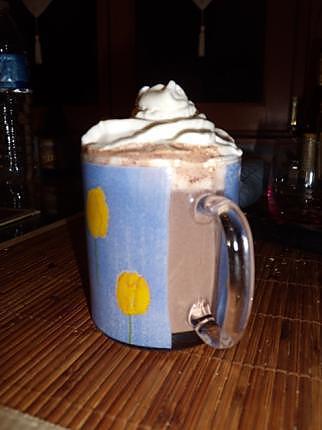 recette chocolat chaud et chantilly au chocolat blanc